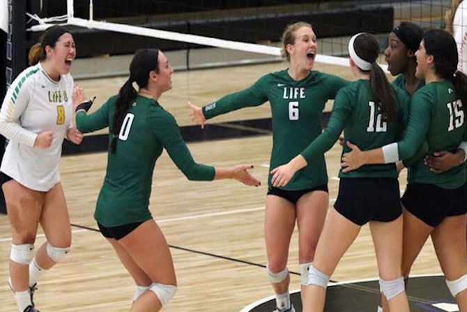 Photo for Life U Volleyball Advances to Mid-South Conference Tournament Semifinals