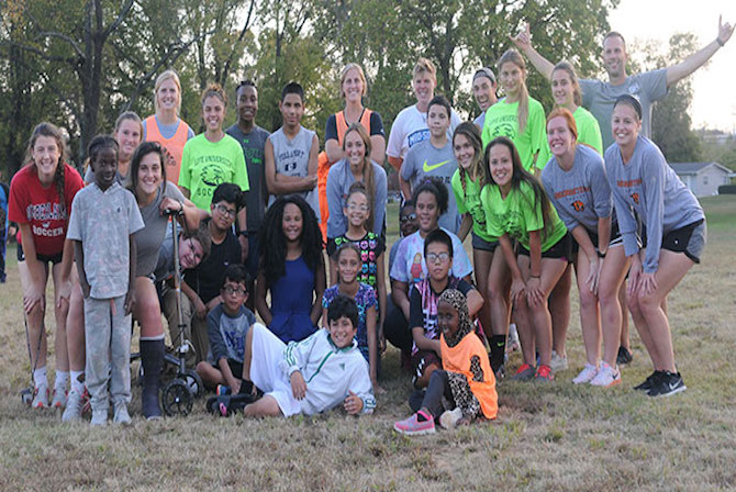 Photo for Life U Women's Soccer Student-Athletes Help Serve B&G Club with MSC