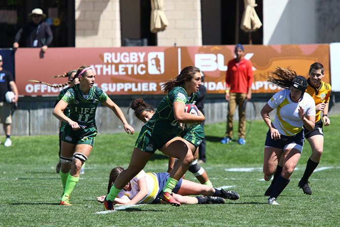 Photo for Running Eagles Go Undefeated on Day One of College 7s National Tournament