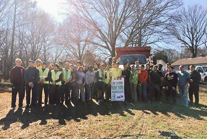 Photo for Life U Rugby Helps Restore Land for Future City Park