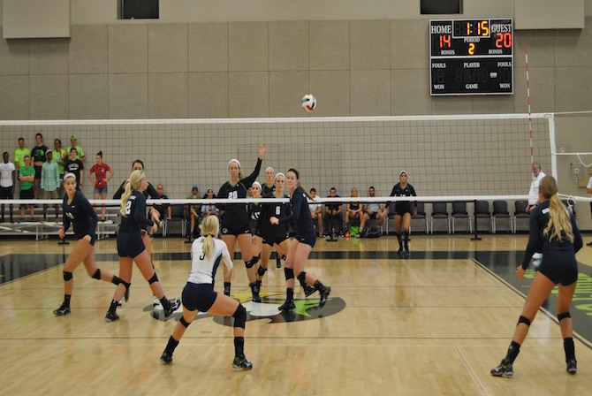 Photo for Volleyball Learns Valuable Lessons in Loss to Cumberland University