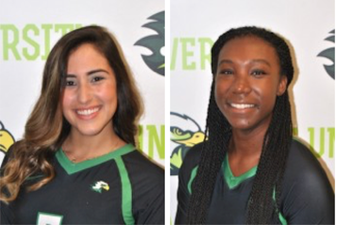Nohema Garcia Torres (left) and Janaya Simmons (right) earn their first career MSC Player of the Week honors.