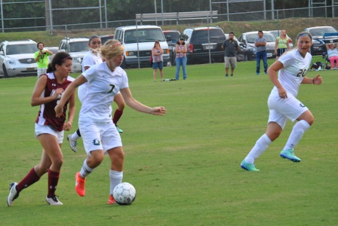 Photo for Women's Soccer Gets First Win With Golden Goal